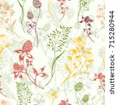 Vector Seamless Floral...