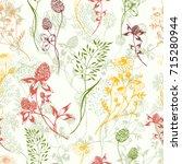 vector seamless floral... | Shutterstock .eps vector #715280944