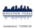 houston texas skyline city logo   Shutterstock .eps vector #715281118