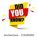 banner did you know | Shutterstock .eps vector #715285003