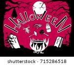 halloween . eps10. pumpkin ...   Shutterstock .eps vector #715286518