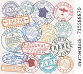 paris france stamp vector art... | Shutterstock .eps vector #715288870