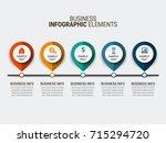 modern infographic process... | Shutterstock .eps vector #715294720