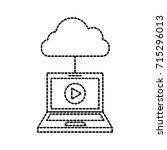 laptop cloud computing player...