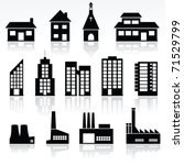 vector set of various buildings | Shutterstock .eps vector #71529799