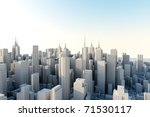 3d city in sunny day | Shutterstock . vector #71530117