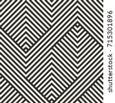 vector geometric lines pattern. ... | Shutterstock .eps vector #715301896