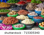 tropical spices and fruits sold ... | Shutterstock . vector #715305340