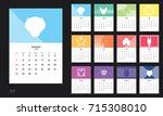 vector design template of... | Shutterstock .eps vector #715308010