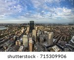 aerial view to skyline of...   Shutterstock . vector #715309906