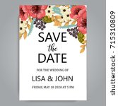 wedding invitation card suite... | Shutterstock .eps vector #715310809
