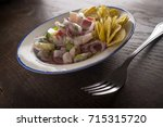 chilled spicy ceviche with... | Shutterstock . vector #715315720
