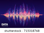sound data visualization.... | Shutterstock .eps vector #715318768