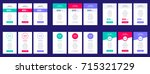 web pricing table design for... | Shutterstock .eps vector #715321729