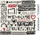 hand drawn web design elements | Shutterstock .eps vector #71532637