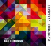 abstract grid square pixel... | Shutterstock .eps vector #715326889