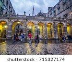 edinburgh  scotland   july 28 ... | Shutterstock . vector #715327174