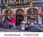 edinburgh  scotland   july 28 ... | Shutterstock . vector #715327210