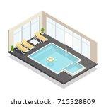 recreation indoor swimming pool ...   Shutterstock .eps vector #715328809