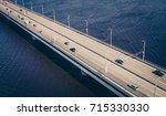 Aerial View On Traffic Bridge...
