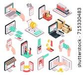 e commerce online store... | Shutterstock .eps vector #715330483