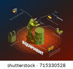 paintball isometric composition ...
