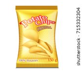 a packet of chips. vector... | Shutterstock .eps vector #715332304