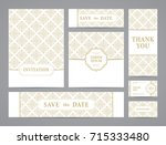 set of ornate vector cards.... | Shutterstock .eps vector #715333480