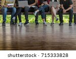 young people being used... | Shutterstock . vector #715333828