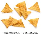 corn chips  nachos isolated on... | Shutterstock . vector #715335706