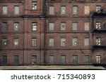Brick Facade Of An Abandoned...