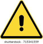 general warning sign | Shutterstock .eps vector #715341559