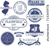plainfield city  new jersey.... | Shutterstock .eps vector #715345978