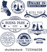 set of generic stamps and signs ... | Shutterstock .eps vector #715346038