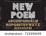 vintage font typeface ... | Shutterstock .eps vector #715350439