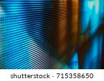 bright colored led smd screen   ... | Shutterstock . vector #715358650