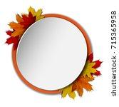 autumn banner. round banner... | Shutterstock . vector #715365958