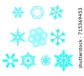 snowflake vectors | Shutterstock .eps vector #715369453