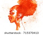 Painting Fashion African Woman...