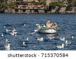 portofino  liguria italy   july ... | Shutterstock . vector #715370584