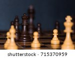 chess photographed on a chess... | Shutterstock . vector #715370959