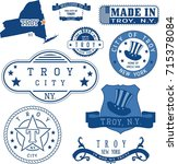 set of generic stamps and signs ... | Shutterstock .eps vector #715378084