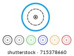 round area icon. vector... | Shutterstock .eps vector #715378660