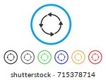 rotation ccw icon. vector... | Shutterstock .eps vector #715378714