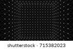 wireframe polygonal box | Shutterstock .eps vector #715382023