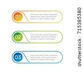 infographic round shape... | Shutterstock . vector #715385380