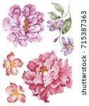 Watercolor Illustration Bouque...