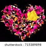 Geometric Polygon Heart Shape...