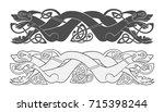 ancient celtic mythological... | Shutterstock .eps vector #715398244
