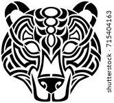 celtic bear tribal design   Shutterstock .eps vector #715404163